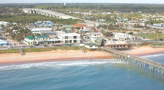 Aerial view of Flagler Beach