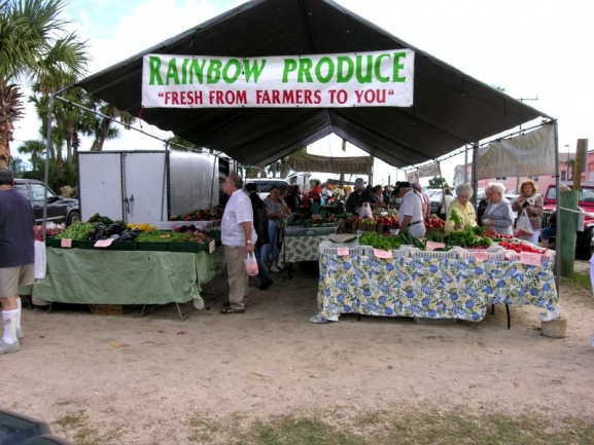 Local vendors at the Flagler Beach Farmer's Market